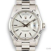 Rolex Day-Date 36 Oro bianco 36mm Argento Senza numeri