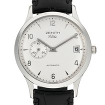 Zenith Elite Steel 37mm White Arabic numerals United States of America, New York, New York