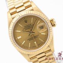 Rolex Gelbgold Automatik Gold Keine Ziffern 26mm gebraucht Lady-Datejust