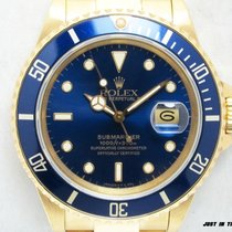 Rolex 16808 Yellow gold 1981 Submariner Date 40mm pre-owned