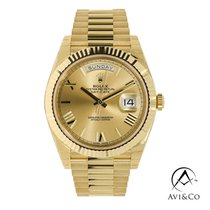 Rolex Day-Date 40 Yellow gold 40mm Champagne Roman numerals United States of America, New York, New York