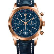 Breitling Red gold Automatic 46mm new Transocean Unitime Pilot