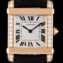 Cartier Chinese Tank Rose Gold Diamond Set