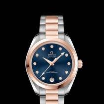 Omega Seamaster Aqua Terra Or/Acier 34mm Bleu Sans chiffres