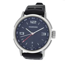 Tourneau Mens Tourneau TNY440401 GMT Stainless Steel 44MM Date