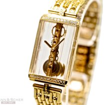 Corum Golden Bridge Gentleman Size 18k Yellow Gold Bracelet...