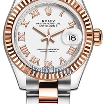 Rolex Lady-Datejust Or/Acier 28mm Blanc
