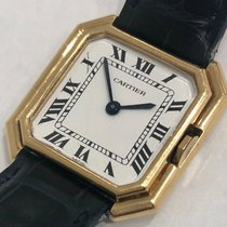 Cartier 18k Gold Vintage Ceinture With White Dial