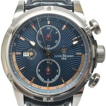 Louis Moinet Chronograph 46.5mm Automatic pre-owned Geograph Blue