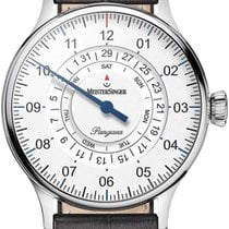 Meistersinger Pangaea Day Date Steel 40mm White