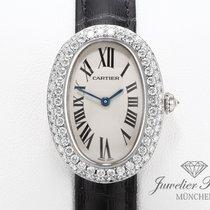 Cartier Baignoire gebraucht 23mm Weißgold
