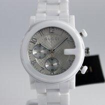Gucci G-Chrono Ceramika 38mm Srebrny Arabskie