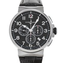 Ulysse Nardin Marine Chronograph Steel 43mm Black Arabic numerals United States of America, Maryland, Baltimore, MD