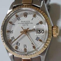 Rolex Oyster Perpetual Lady Date Çelik 26mm Beyaz Sayılar yok