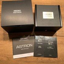 Seiko Astron GPS Solar Chronograph Titanium 46.3mm Black No numerals