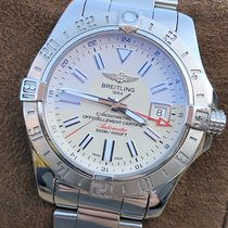 Breitling Avenger II GMT pre-owned 43mm Silver Date GMT Steel