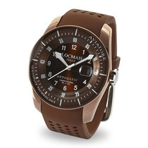 Locman Aviatore Titanium 44mm Brown