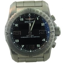 Breitling Cockpit Ref Eb5010 Men's Titanium Gmt Watch W/ Box...