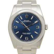 Rolex Oyster Perpetual Stainless Steel Blue Automatic 116000BL...