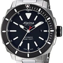 Alpina AL-525LBG4V6B Seastrong Diver 44 Date Black Dial Brown...