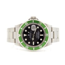 Rolex Submariner 16610V  Anniversary Watch Maxi Dial Green Bezel