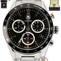 TAG Heuer Carrera Chronograph Black Date Stainless 43mm Watch...