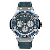 Hublot Big Bang Jeans pre-owned 41mm Blue Rubber