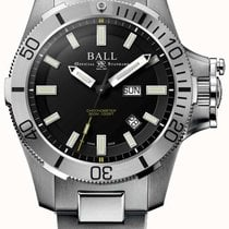 Ball Engineer Hydrocarbon Steel 42mm Black No numerals