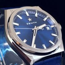 Zenith Defy 95.9000.670/51.R584 ZENITH Classic Titanio Blu Gomma e Pelle new