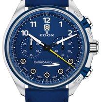 Edox Chronorally Steel 43mm Blue