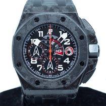 오드마피게 카본 자동 검정색 아라비아 숫자 44mm 중고시계 로열오크 오프쇼어 크로노그래프