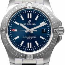 Breitling Chronomat Colt Stahl 44mm Blau