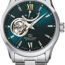Orient Star Steel 39mm Green No numerals