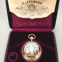 J.Assmann Glashutte vintage hunting case pocket watch
