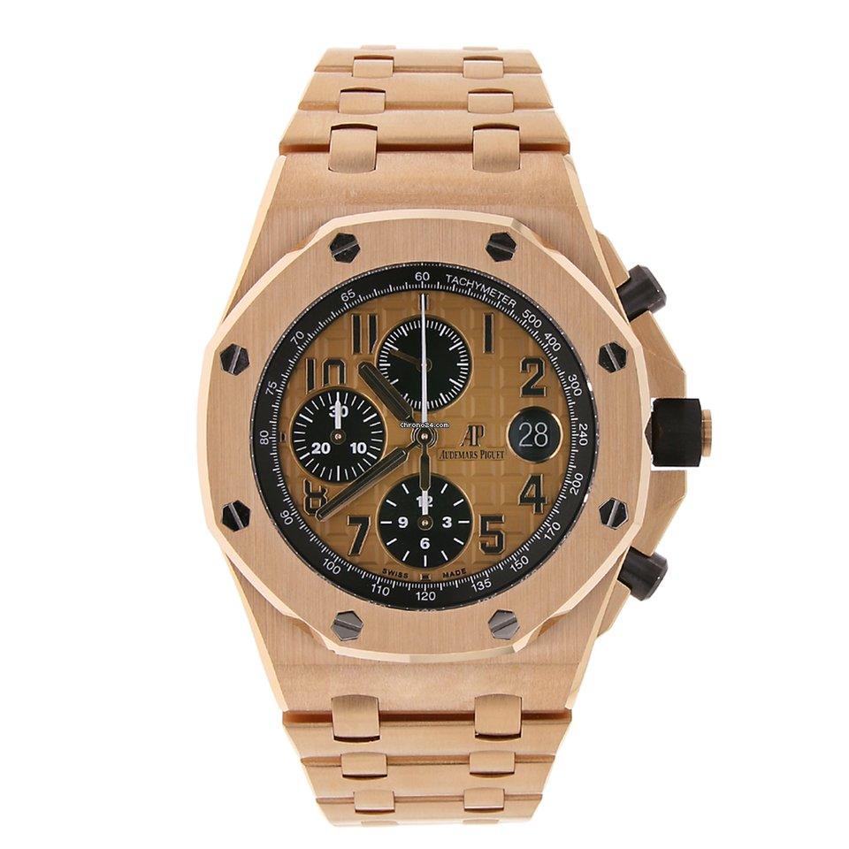 Audemars piguet royal oak offshore chronograph 42mm rose gold for 56 499 for sale from a for Royal oak offshore rose gold 42mm
