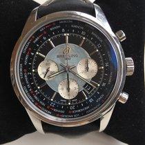 Breitling Transocean Chronograph Unitime Acero 46mm Negro Sin cifras