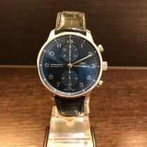 IWC Portuguese Chronograph Staal 40.9mm Blauw Arabisch Nederland, Enschede