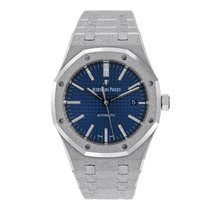Audemars Piguet Royal Oak White gold 41mm Blue No numerals United States of America, New York, New York