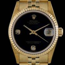 Rolex Datejust Unworn Gold Rare Onxy Dial
