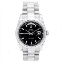 Rolex Platinum President Day-Date Men's Watch 118206 black Dial