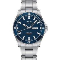 Mido Ocean Star Steel 42.5mm Blue No numerals