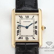 Cartier Tank Louis Gelbgold 750 Leder Lady
