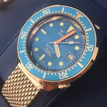 Squale Sunburst blue dial polished case