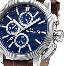 TW Steel Chronograph 45mm Quarz neu Blau