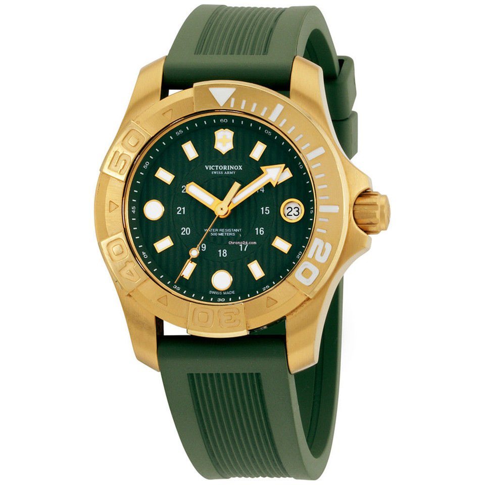 d2df28b3c83 Victorinox Swiss Army Dive Master 500 Green Dial Silicone... por 145 € para  vender por um Seller na Chrono24
