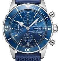 Breitling Superocean Héritage II Chronographe Сталь 44mm Синий