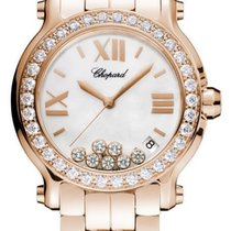 Chopard 36mm Quartz pre-owned Happy Sport Mother of pearl