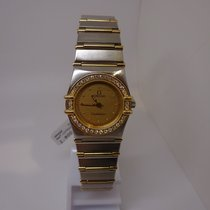 Omega Constellation Gold/Steel Yellow No numerals