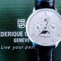 Frederique Constant Manufacture Slimline Perpetual Calendar Staal 42mm Wit Geen cijfers