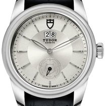 Tudor Glamour Double Date M57000-SILVER new